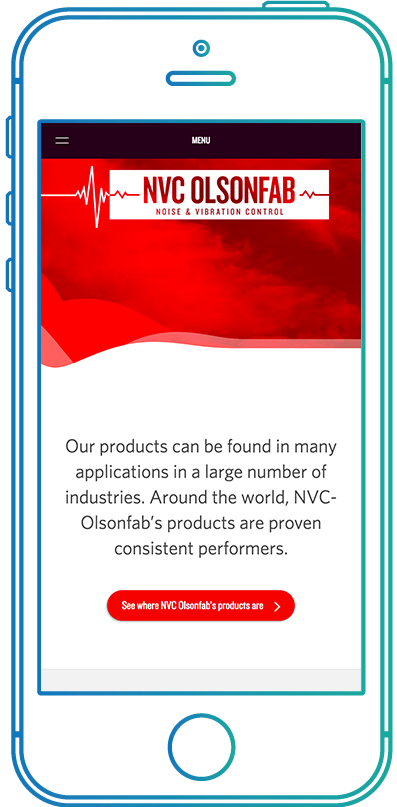 NVC Olsonfab website on mobile